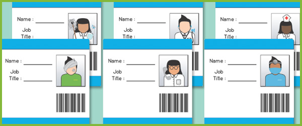 Hospital ID Badges (EYFS Role play) | Free Early Years & Primary ...